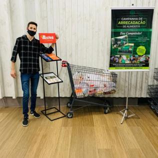 Ponto de arrecadação na Rede Bistek de supermercados
