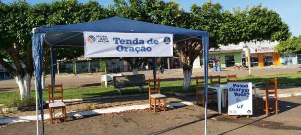 Tenda de oração em Nova Brasilândia (Arquivo pessoal)