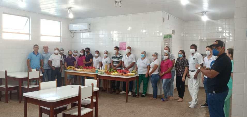 Café da manhã aos funcionários do hospital municipal em São Miguel (Arquivo pessoal)