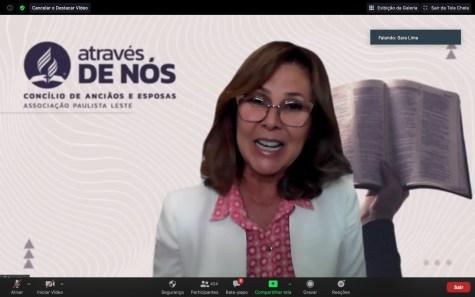 Sara Lima, líder da Área Feminina da Associação Ministerial (AFAM) para todo o Estado de São Paulo (Foto: Reprodução).