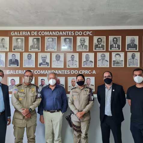 Representantes da Polícia Militar, da Fundação e da ADRA. (Foto: Elder Barbosa)