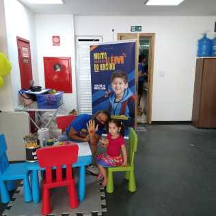 Mais atividades dentro do IBE com as crianças.