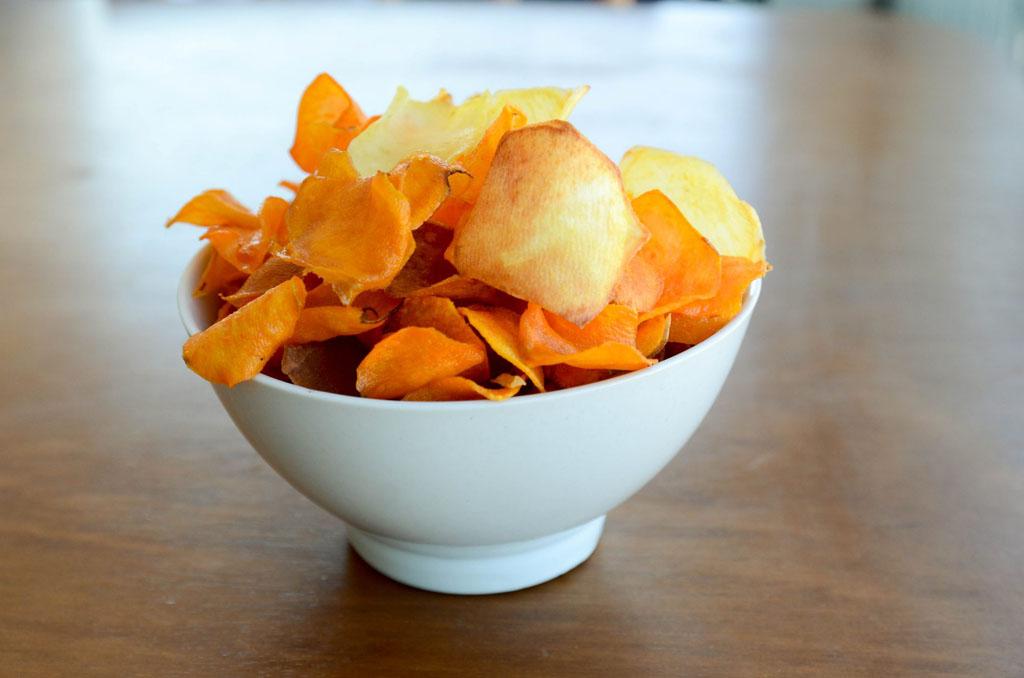 Como fazer batata chips