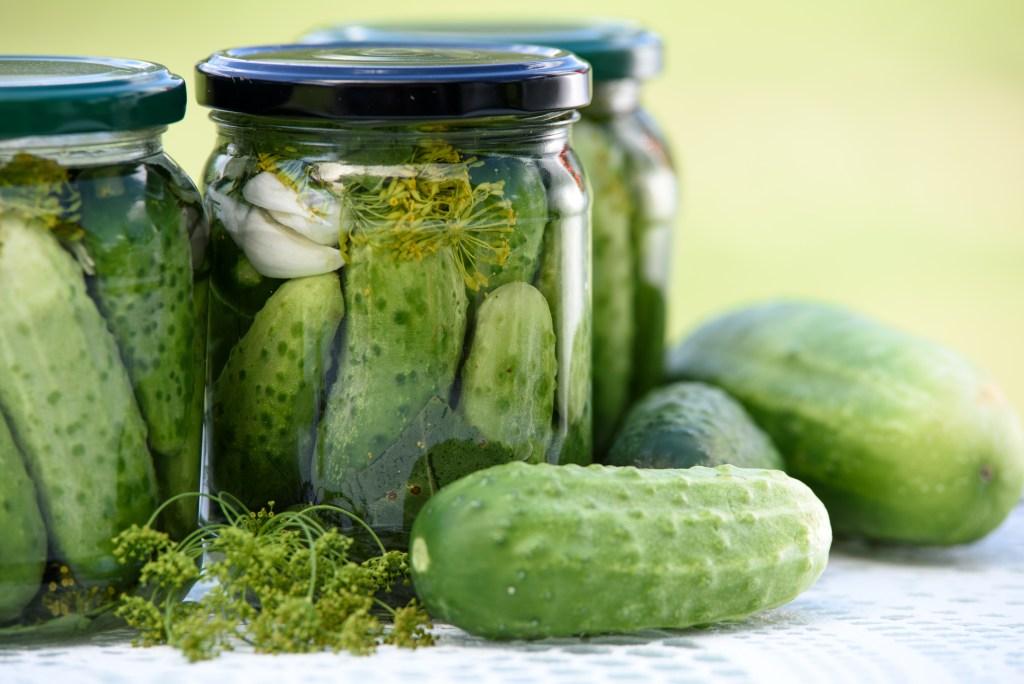 conserva de pepinos com alho e ervas
