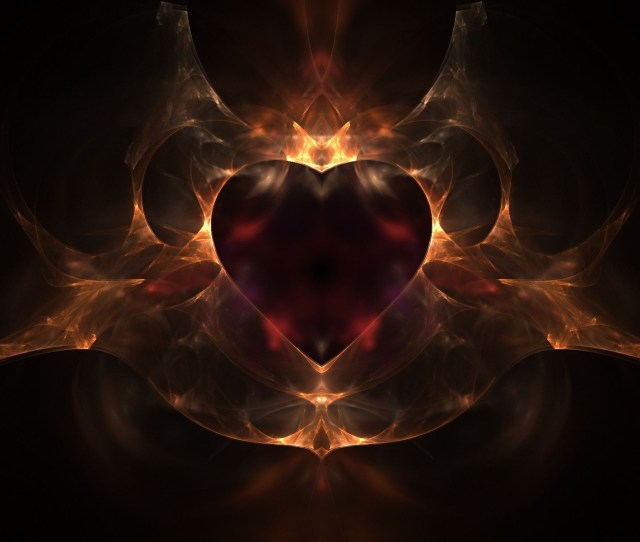 Fire Heart Wallpaper Abstract Other Wallpapers