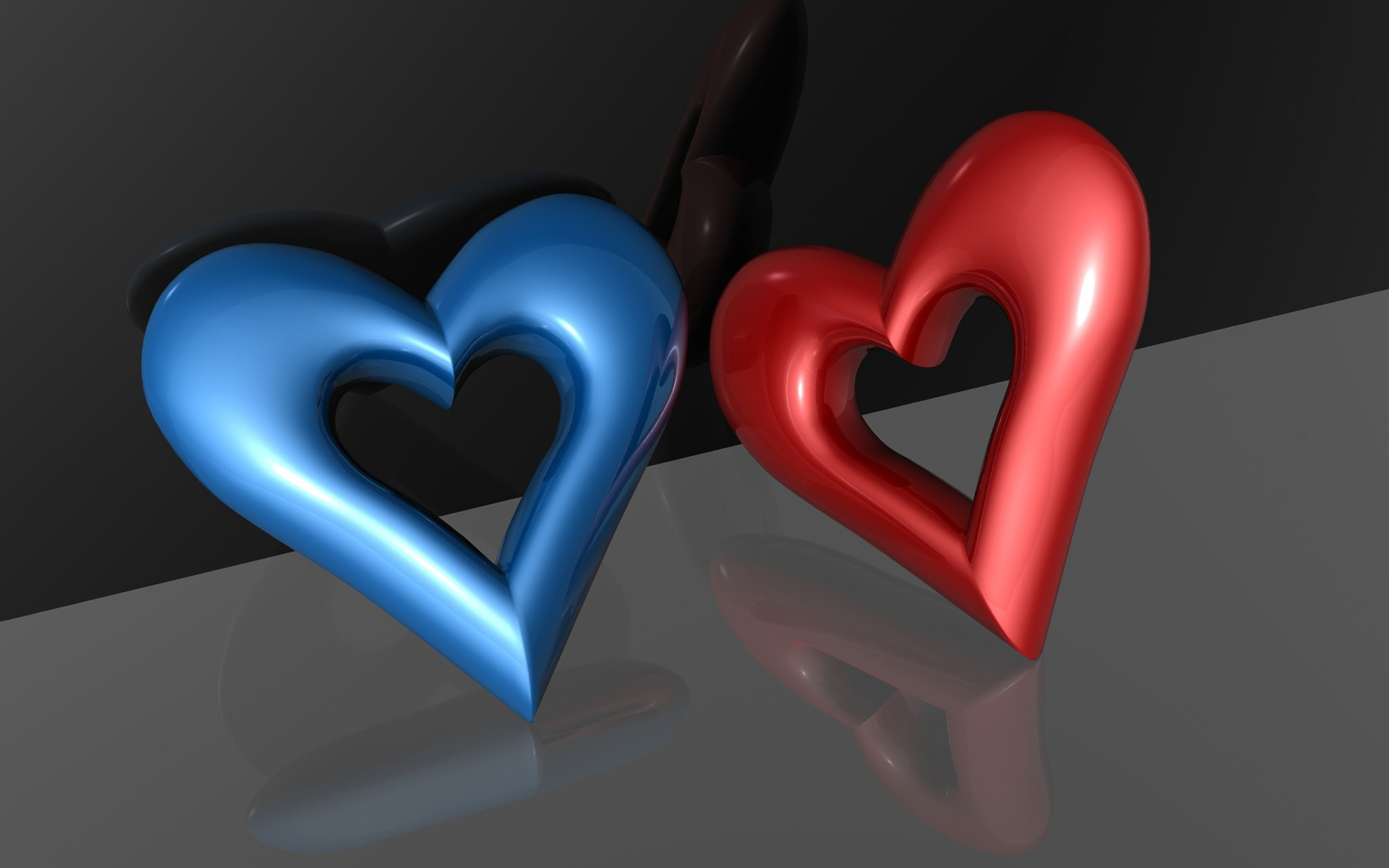 3d hearts wallpaper abstract