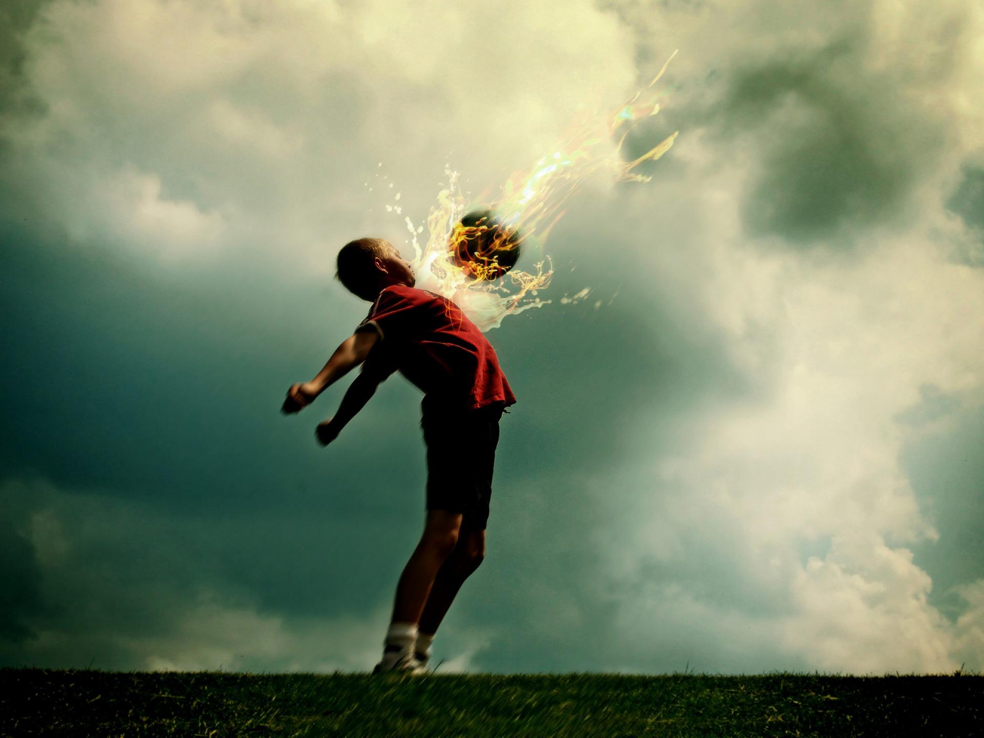 fire ball wallpaper football