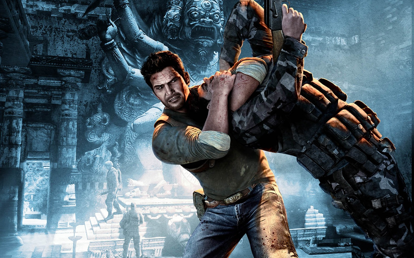 Anime Shooter Girl Wallpaper Super Hd Uncharted 2 Among Thieves Wallpaper Other Games Games