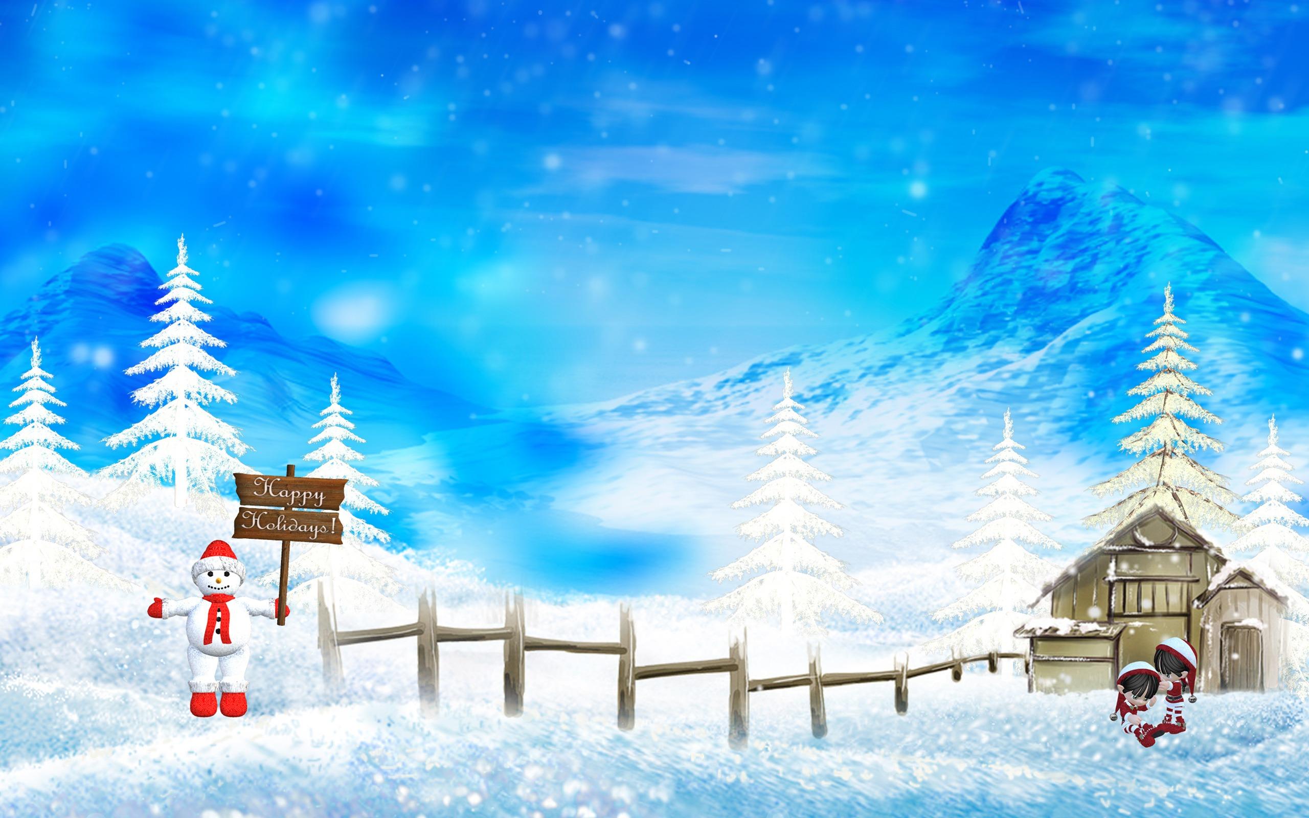Free Xmas Wallpapers Animated Happy Hollidays Wallpaper Christmas Holidays Wallpapers In