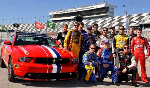 2010 Daytona 500 Pace Car, with Ford Racing drivers
