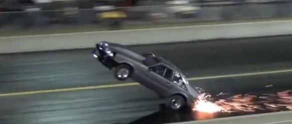 Kevin Neal Foxbody Mustang Wheelstand Crash