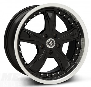 Black Shelby Razor Ford Mustang Wheels (1994-2014)