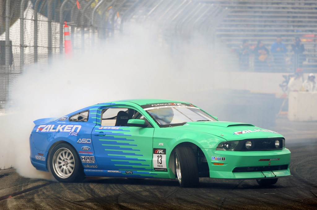 Pawlak Drifting his Falken Ford Mustang
