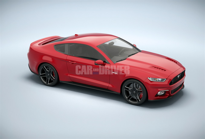 2015 Ford Mustang Final C&D Rendering