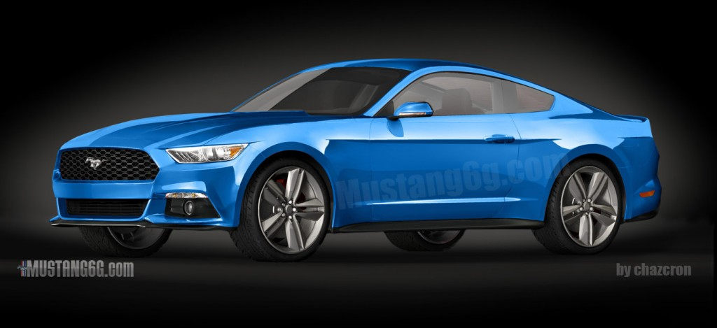 2015 Mustang 3D Rendering Based on CAD