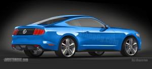 2015 Mustang CAD 3D Rendering