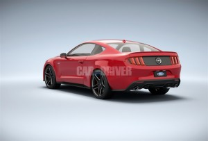 Rear 2015 Mustang C&D Rendering