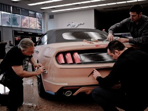 Designing the 2015 Mustang with tape