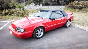 Fox Body Mustang With Pony Rims
