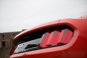 2015 Mustang GT Tail Lights Up Close