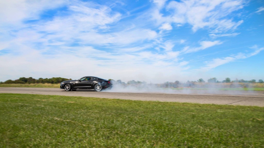 The brand new 2015 Roush RS3 Mustang on the track