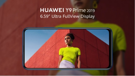 Huawei Y9 2019's New Ultra Full-View Screen and Auto pop-up selfie Camera delight smartphone users in Ghana