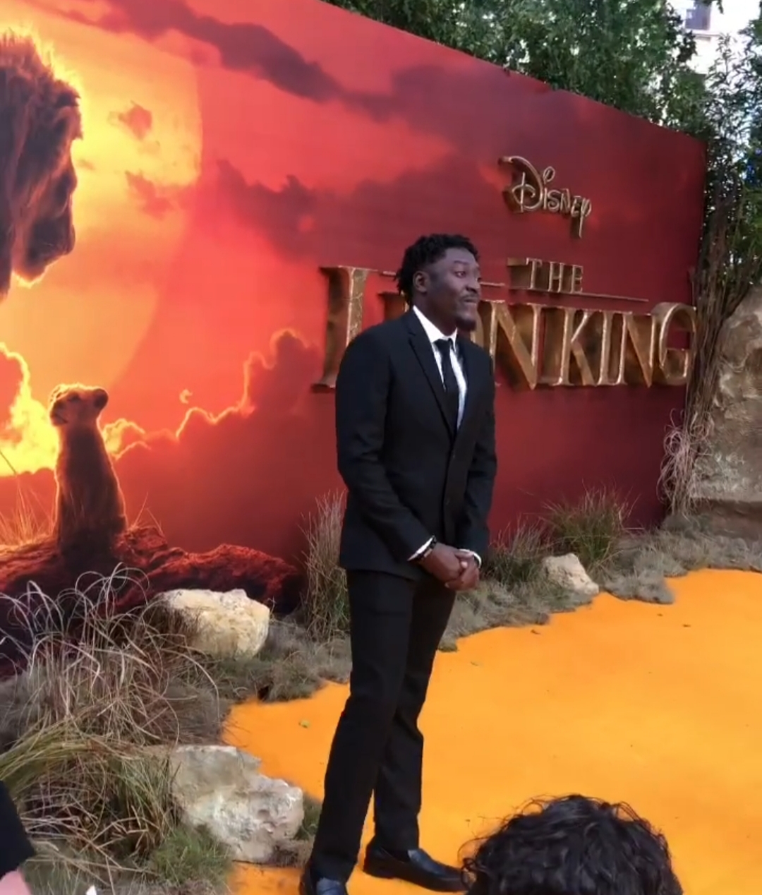 Guiltybeatz attends premiere of 'The Lion King' in London