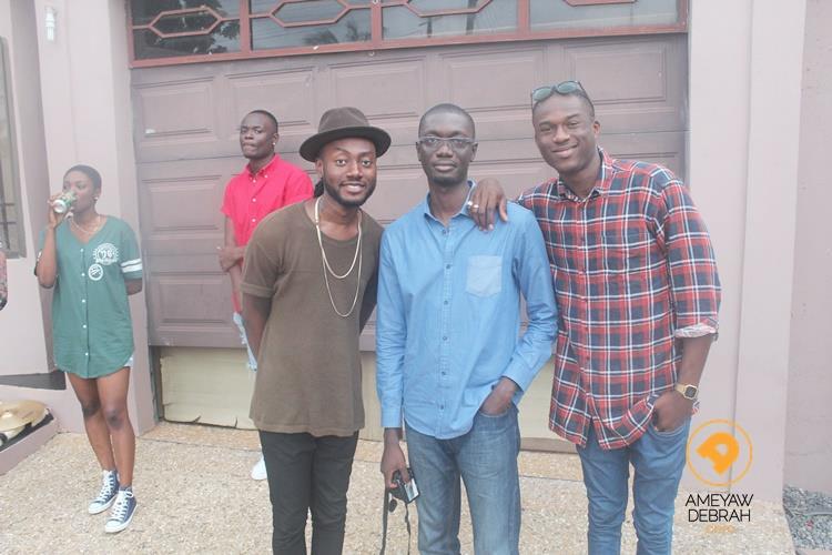 Ameyaw Debrah with Joey B and Pappy Kojo