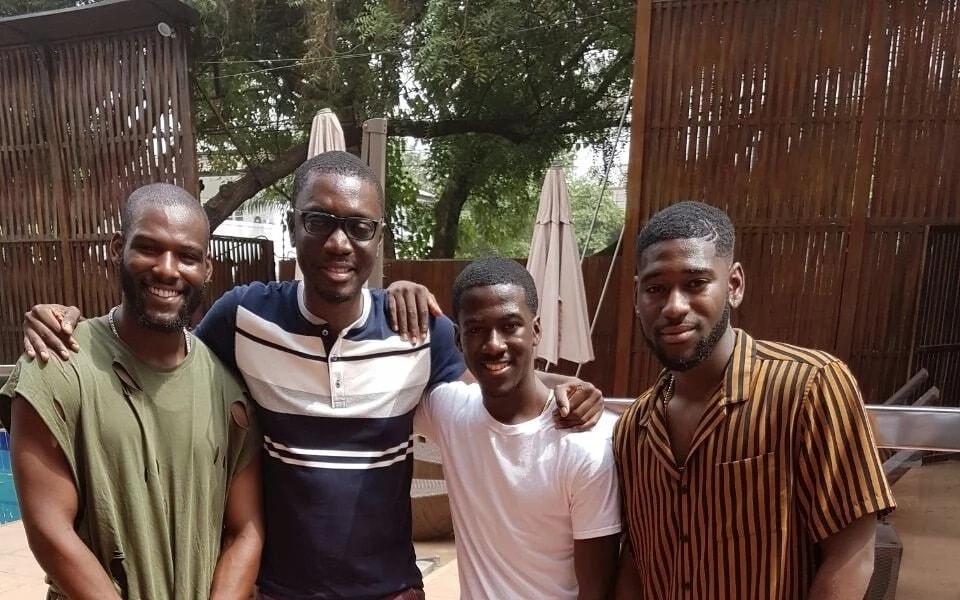 Ameyaw Debrah with Kofi Siriboe, Kwame Boateng and Kwesi Boakye