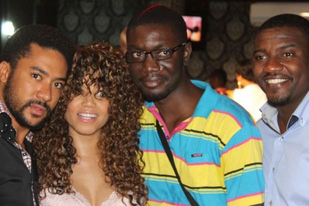 Ameyaw Debrah with Majid Michel, Nadia Buari and John Dumelo