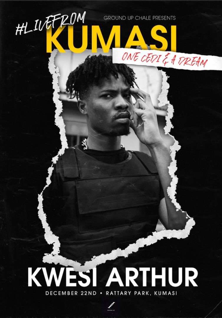 Kwesi Arthur to shut down Kumasi on December 22