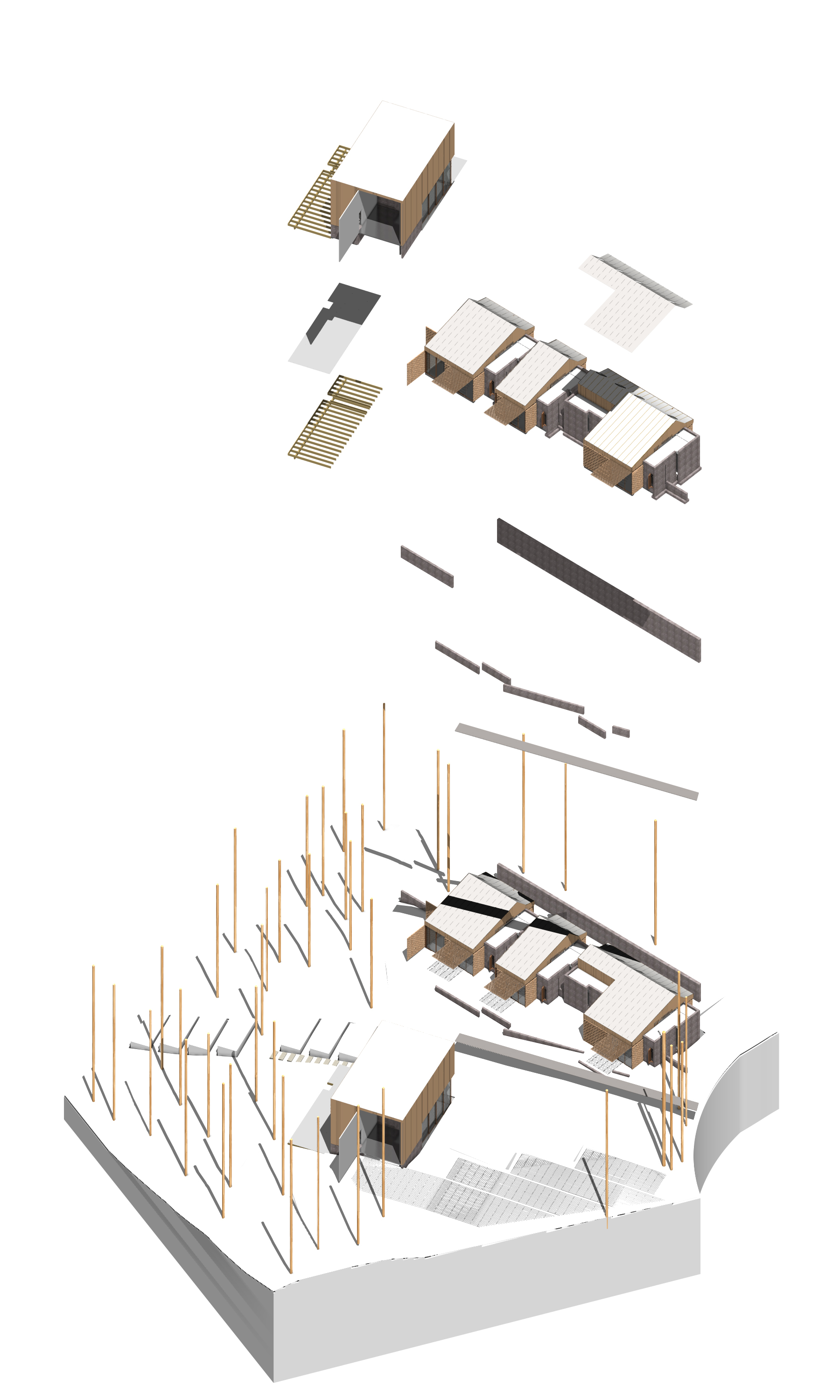 exploded axon diagram 8n wiring architecture axonometric