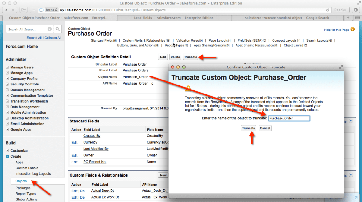 Delete all Records from Custom Object