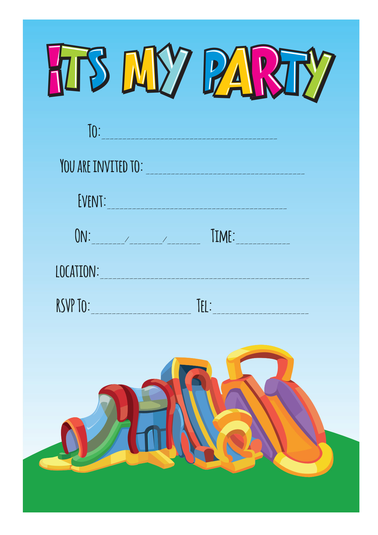 free download party invitations