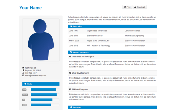 Elegant CV Premium Bootstrap Template Bootstrap Stage