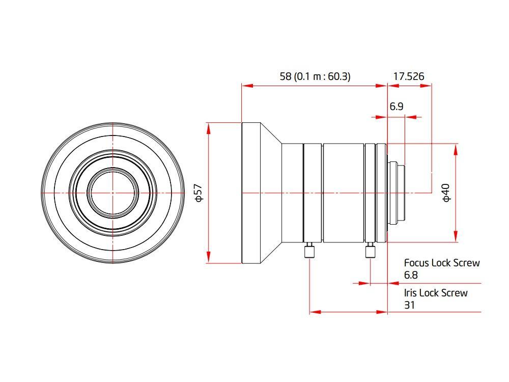VZ-DF8M-3MP-SWIR ViewZ 1 inch 3MP FA Fixed Lens with