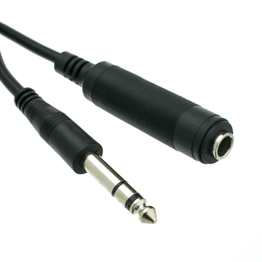medium resolution of 1 4 inch stereo extension cable trs 1 4 inch male to