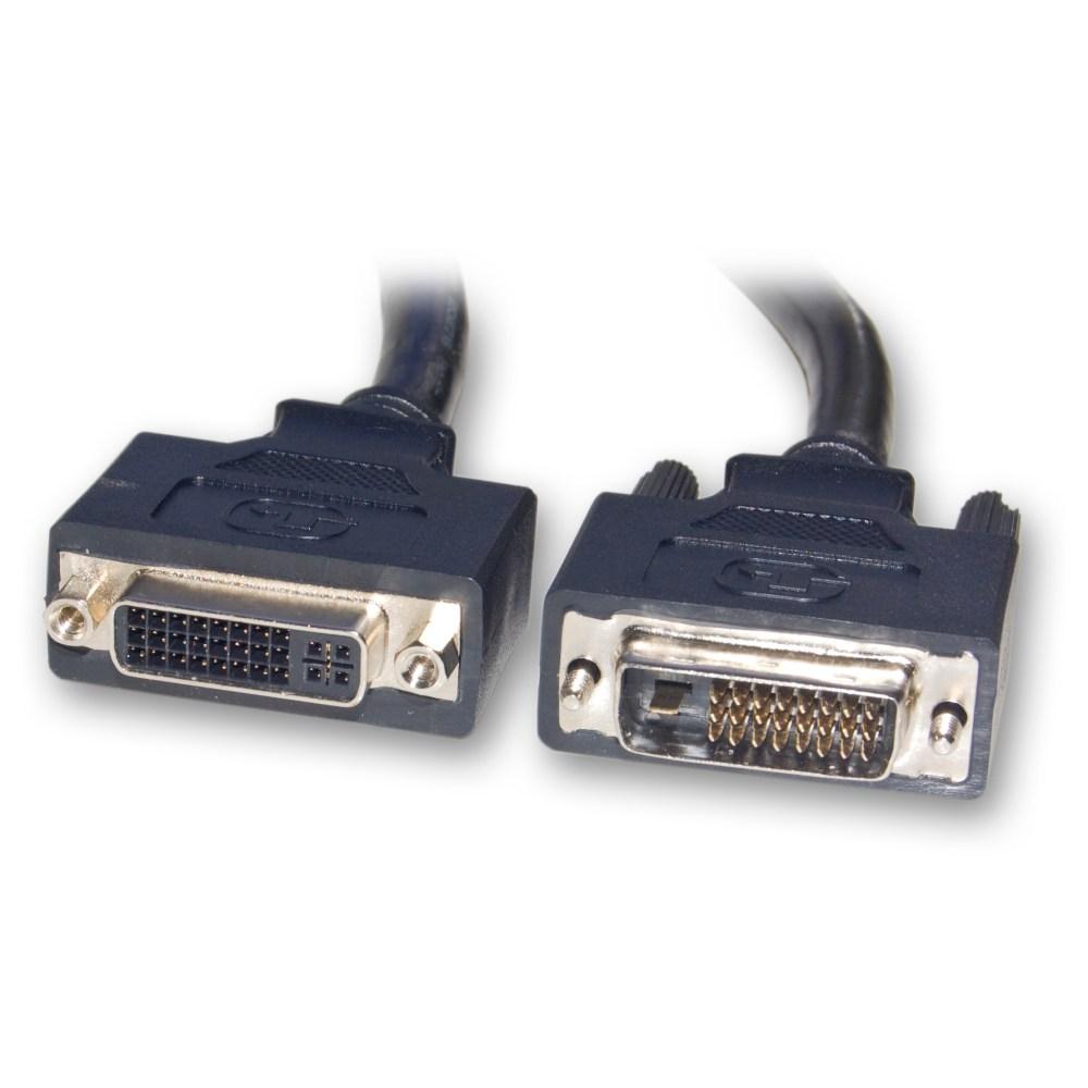 medium resolution of dvi d dual link extension cable black dvi d male to dvi