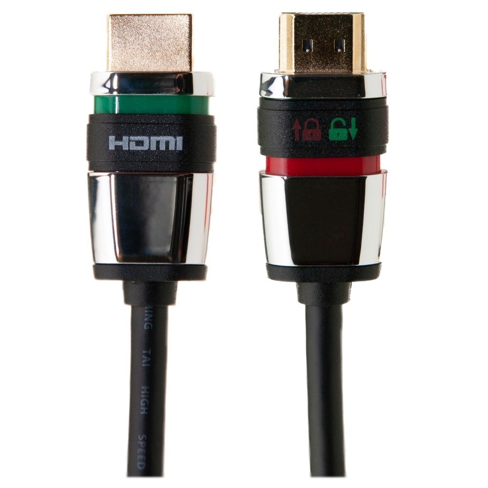 medium resolution of locking hdmi cable high speed with ethernet hdmi male 4k 1 5 foot