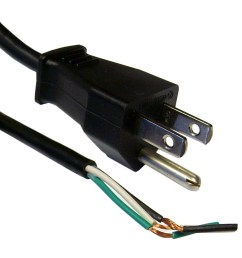 3 prong power cord with open wiring 6 ft replace 3 prong power cord wiring 3 prong power cord [ 1084 x 1084 Pixel ]