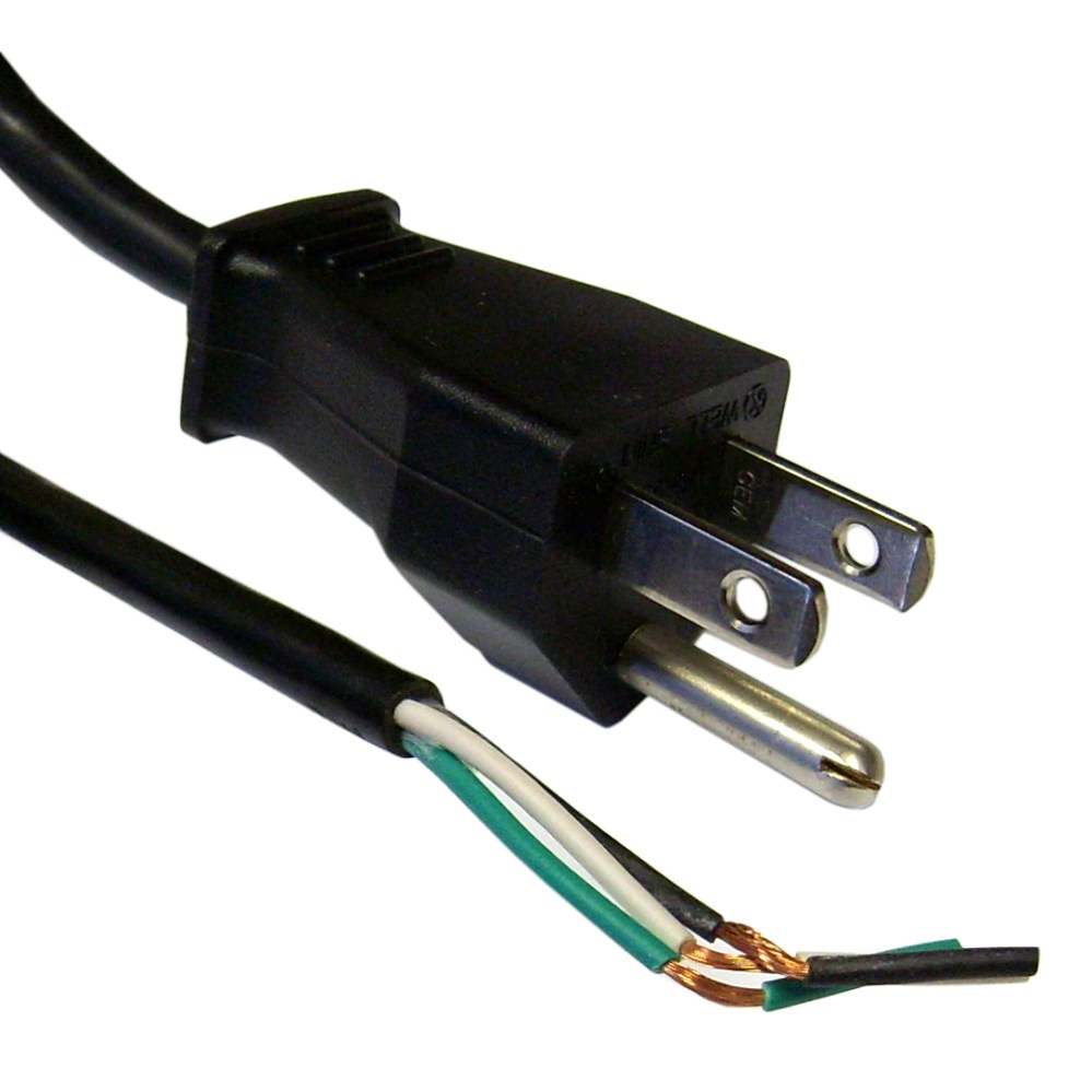 medium resolution of 3 prong power cord with open wiring 6 ft replace 3 prong power cord wiring 3 prong power cord