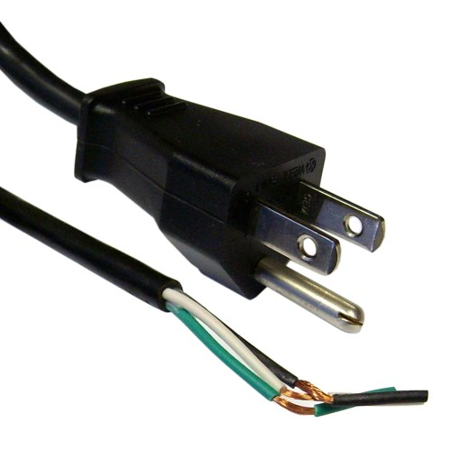 small resolution of nema 5 15p to standard roj power cord black 18 3