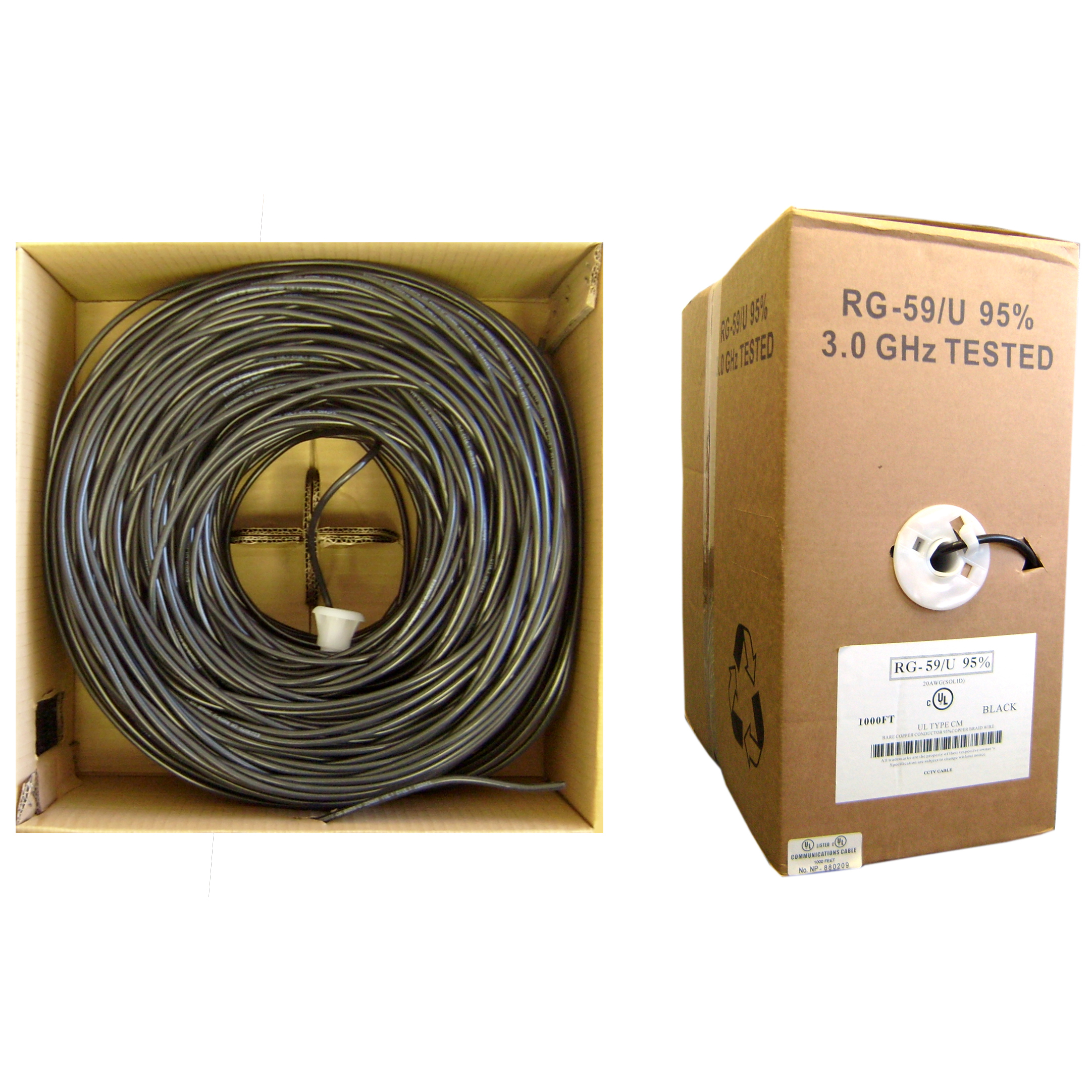 Power Cords Coaxial Cable One Of The Widely Used Bulk Wire