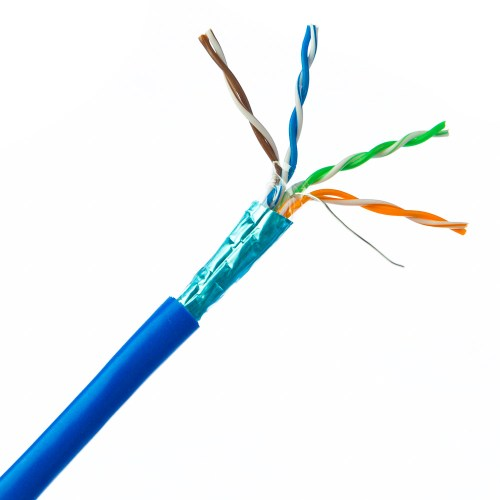 small resolution of plenum cat6 bulk cable blue solid shielded cmp 23 awg
