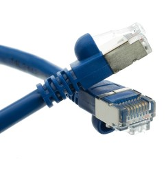 shielded cat5e blue ethernet cable snagless molded boot 1 foot part number [ 1000 x 1000 Pixel ]