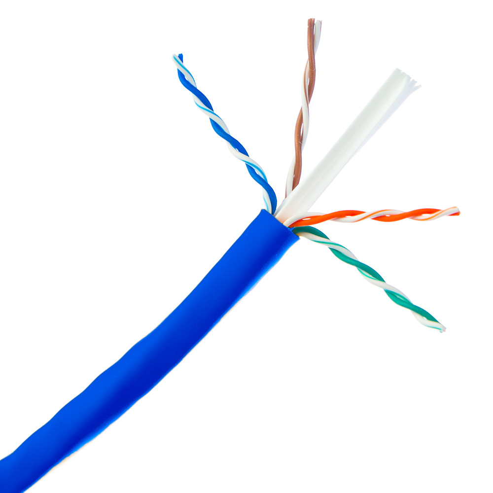 medium resolution of bulk cat6 blue ethernet cable solid utp unshielded twisted pair pullbox