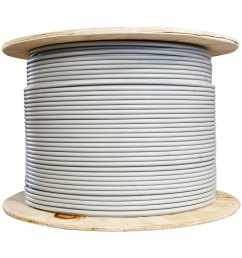 bulk shielded cat6 gray ethernet cable solid spool 1000 foot part number [ 1999 x 1999 Pixel ]