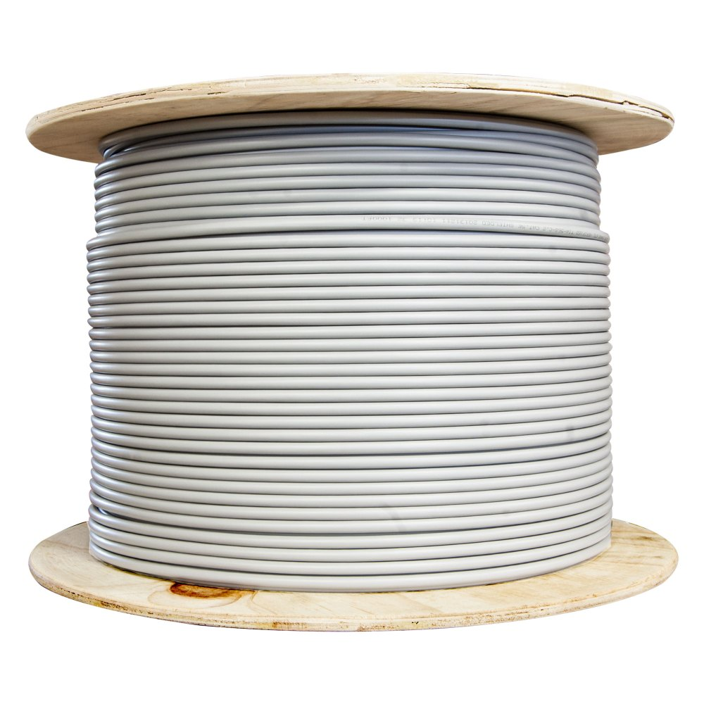 medium resolution of bulk shielded cat6 gray ethernet cable solid spool 1000 foot part number