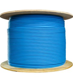 bulk shielded cat6 blue ethernet cable solid spool 1000 foot part number [ 2000 x 2000 Pixel ]