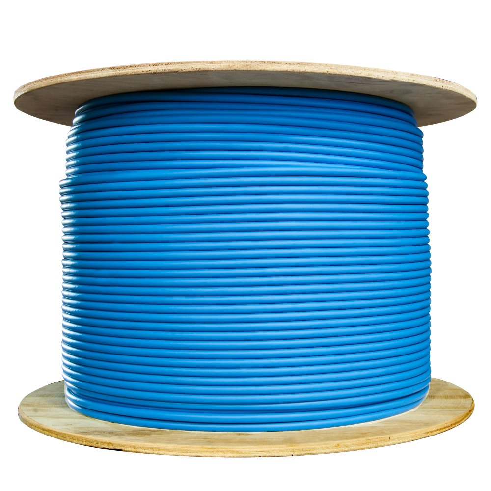medium resolution of  bulk shielded cat6 blue ethernet cable solid spool 1000 foot part number